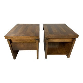 1960s Brutalist Lane End Tables - a Pair For Sale