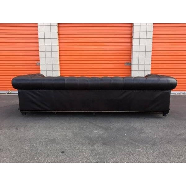 Timothy Oulton Timothy Oulton Black Leather Sofa For Sale - Image 4 of 7