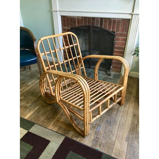 Mid-Century Modern Bamboo Club Chair - Image 9 of 10