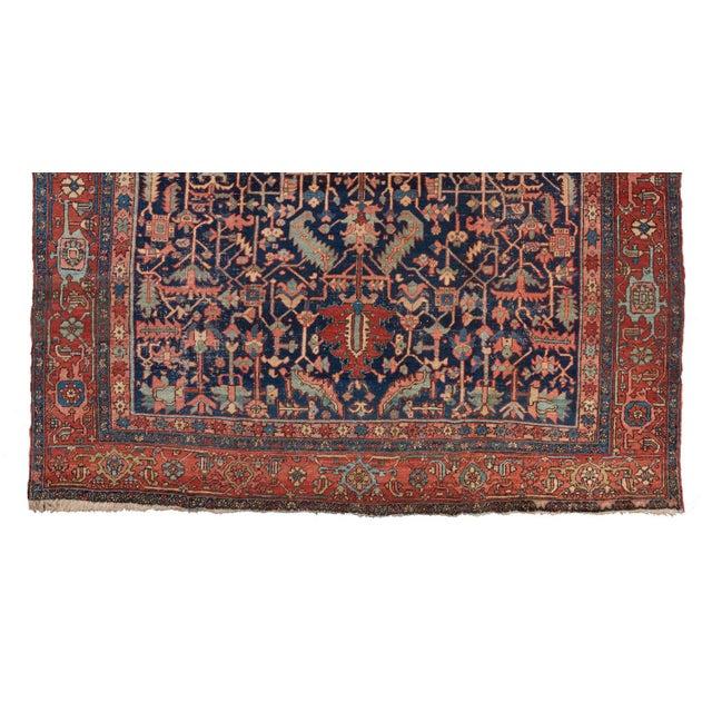 Traditional Heriz Allover Design Blue Ground Carpet For Sale - Image 3 of 5