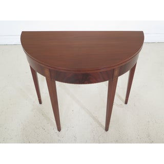 1900s Federal Style Inlaid Mahogany Flip Top Console Table Preview