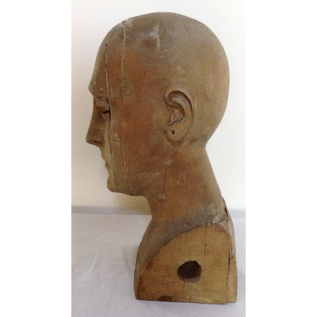 Antique Hand Carved Head - Image 5 of 6