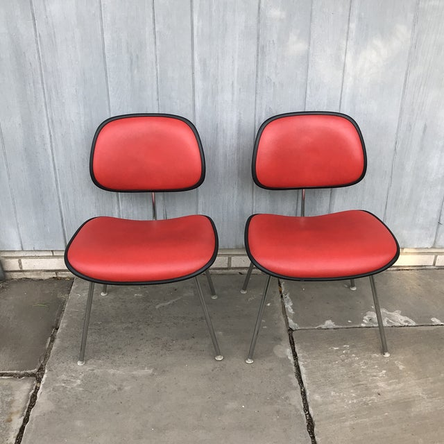 1970s 1970s Vintage Eames for Herman Miller Dcm Chairs- A Pair For Sale - Image 5 of 8