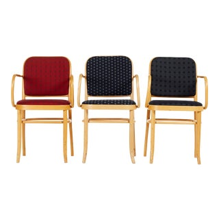 Set of Three Bentwood Dining Chairs Josef Hoffmann Style For Sale