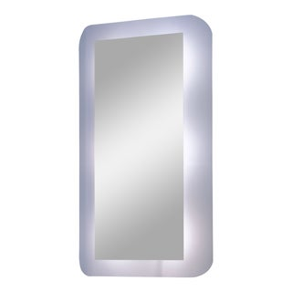 Fiam Italia 'Selene' Wall Mounted Curved Mirror With Lights For Sale