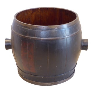 Vintage Japanese Black Laquered Barrel For Sale