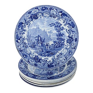 1830s Staffordshire Dinner Plates - Set of 8 For Sale