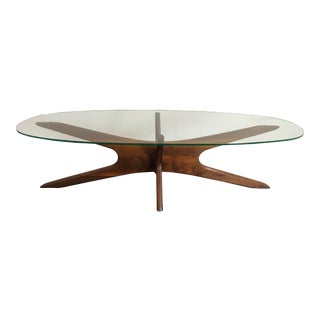 Adrian Pearsall Sculptural Walnut Coffee Table For Sale