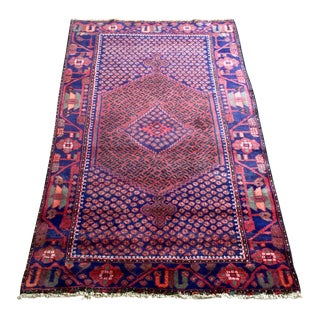 """1960's Vintage Hand-Knotted Persian Rug-4'2'x6'9"""" For Sale"""