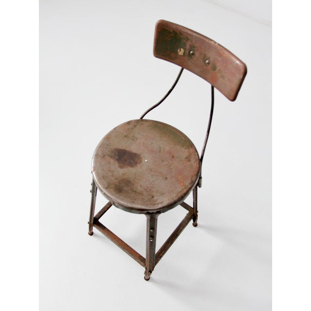 Mid 20th Century Vintage Industrial Drafting Stool For Sale - Image 5 of 10