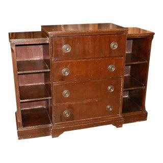 Antique Mahogany Secretary Desk Bookcase For Sale