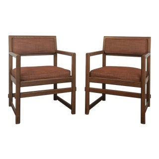 Mid Century Modern Edward Wormley for Dunbar Club Chairs- A Pair For Sale