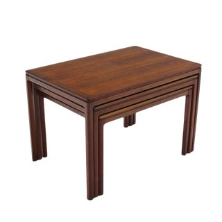 Set of Three Teak Nesting Tables by Dux For Sale