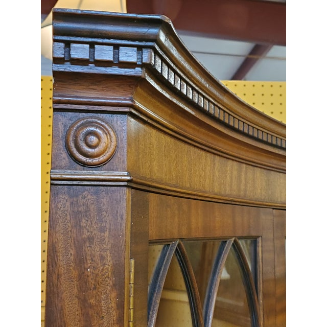 Wood Vintage Mahogany Corner Cabinet For Sale - Image 7 of 13