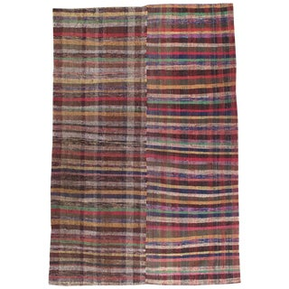 Late 20th Century Vintage Pala Kilim- 6′1″ × 9′4″ For Sale
