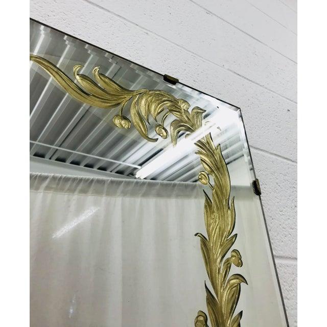 Antique Art Deco Gold Foil Mirror For Sale - Image 9 of 13