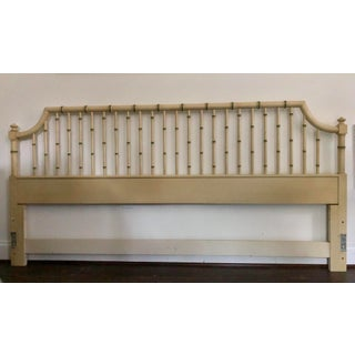 Vintage Chippendale Faux Bamboo King Size Headboard Preview