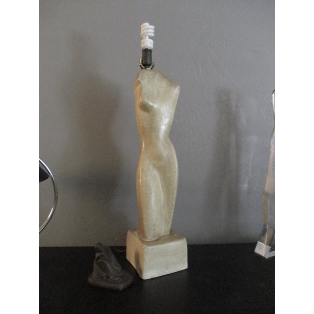 Turquoise Going Going Gone Modernist Sculptural Nude Form Lamp For Sale - Image 8 of 9