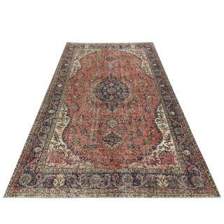 Vintage Distressed Turkish Carpet | 6'8 X 10'9