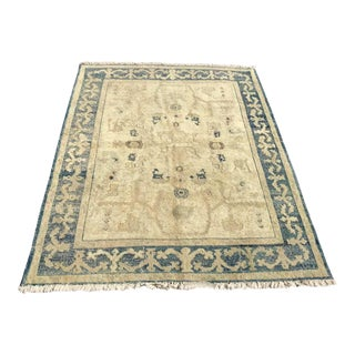 Antique Hand Knotted Oushak Rug For Sale