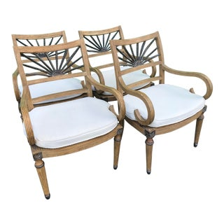 Vintage Split Rattan Ferguson Copeland Chairs-Four For Sale