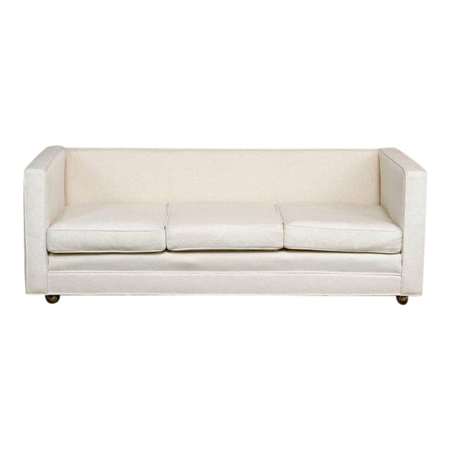 Late 20th Century Baughman Style Upholstered Case Sofa For Sale