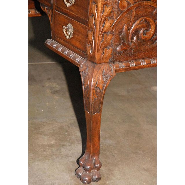 Brass Ladies Partners Desk For Sale - Image 7 of 9