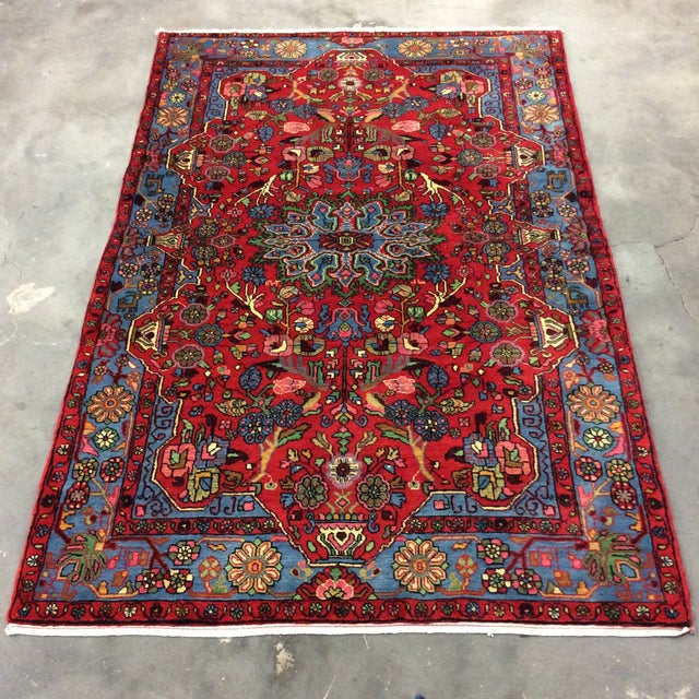 1980s 1980s Vintage Nahavand Persian Rug - 5′2″ × 8′ For Sale - Image 5 of 5