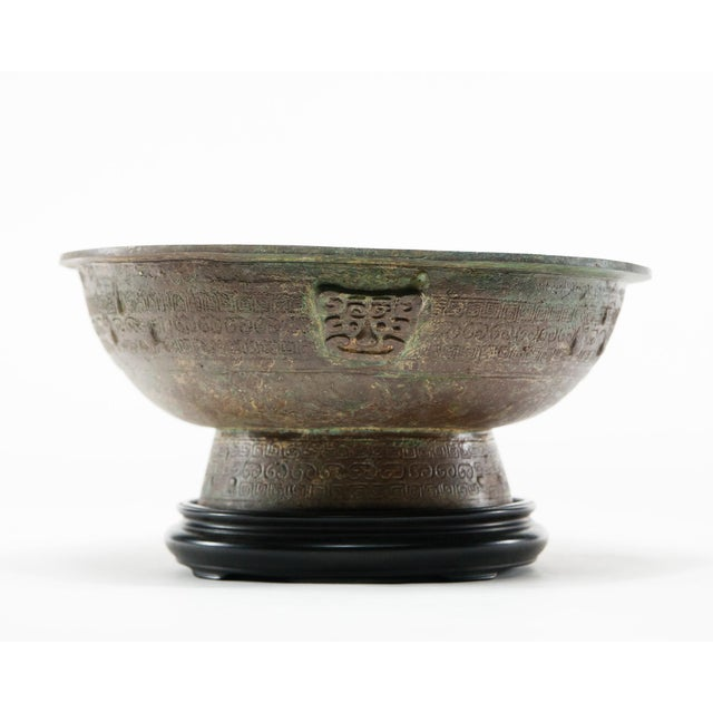 Lawrence and Scott, Inc Lawrence & Scott Patinated Vessel on Stand For Sale - Image 4 of 10