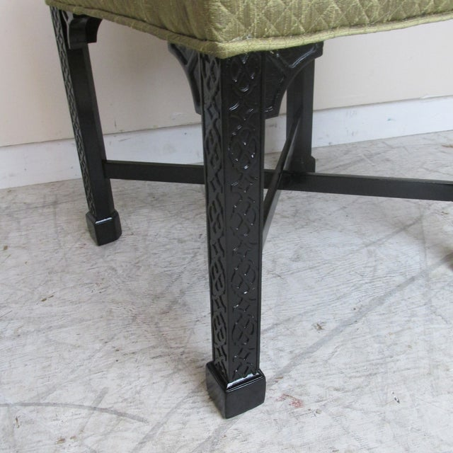 Vintage Chinese Chippendale Style Stools - a Pair For Sale In New York - Image 6 of 9