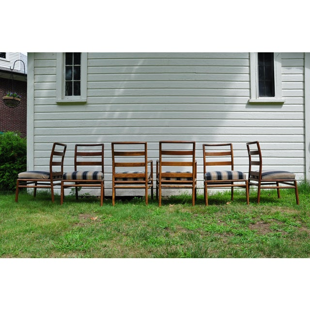 Brown 1950s Mid-Century Modern t.h. Robsjohn-Gibbings for Widdicomb Dining Chairs - Set of 6 For Sale - Image 8 of 13
