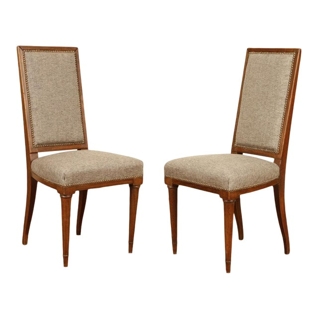 Mid 20th Century Jean Michel Frank Dining Chairs - a Pair For Sale