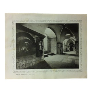 """1906 """"Painters Corner - Crypt of St. Paul's"""" Famous View of London Print For Sale"""