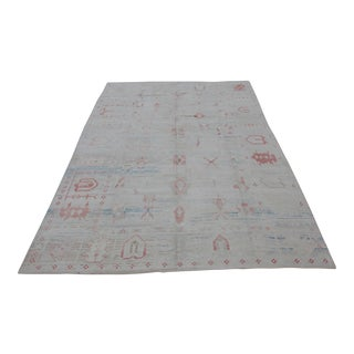 Turkish Oushak Hand-Knotted Rug - 13′1″ × 17′8″ For Sale