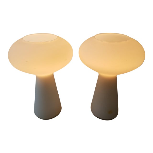 Lisa Johansson Pape Glass Lamps - A Pair For Sale