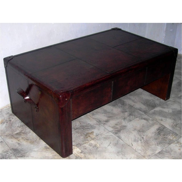 Genuine Leather Coffee Table - Image 3 of 4