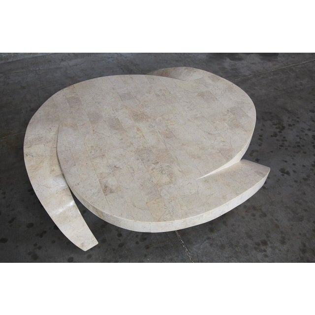 """Tan 1990s Post-Modern Tessellated Cantor Stone """"Hurricane"""" Coffee Table For Sale - Image 8 of 10"""