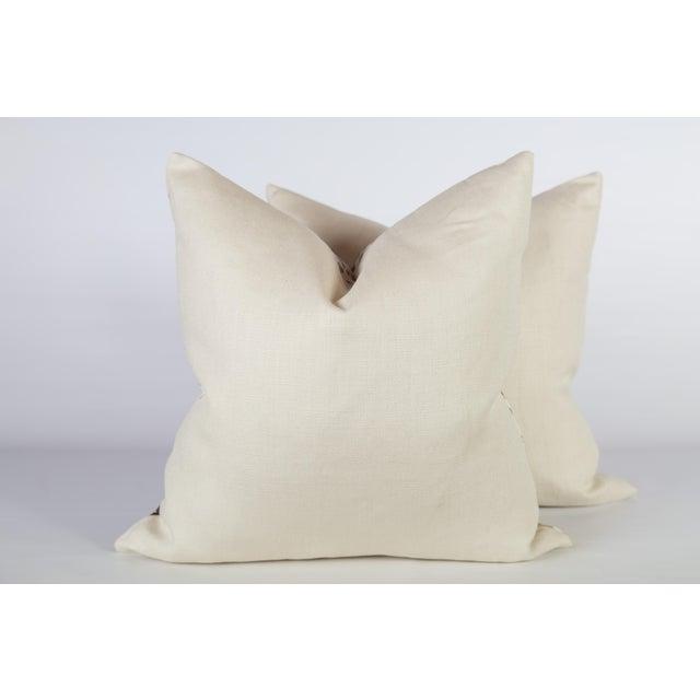 Custom Rust Ferns Uni Pillows - a Pair - Image 4 of 5