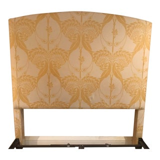 Art Nouveau Upholstered Queen Size Headboard For Sale