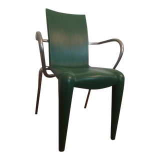 Louis 20 Starck Designer Green Chair For Sale