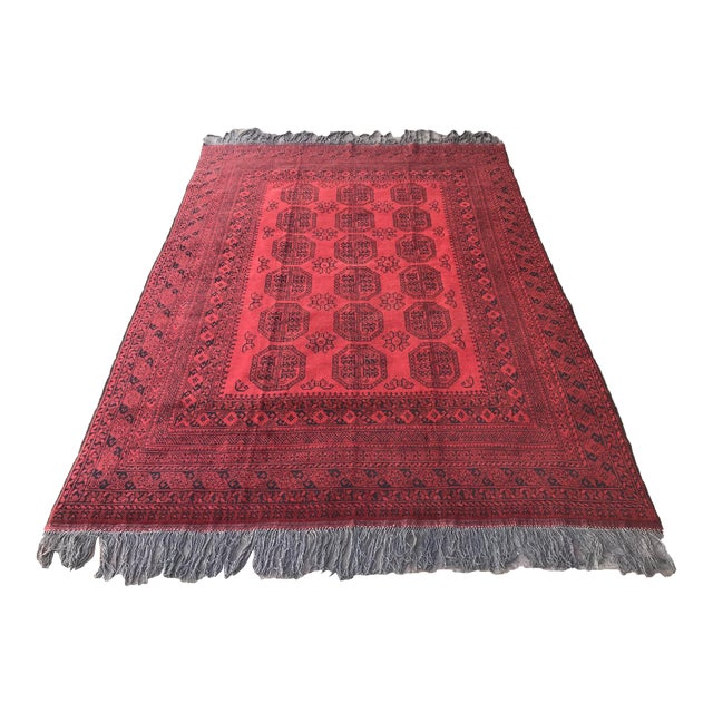 Vintage Hand-Knotted Wool Rug- 6′7″ × 10′7″ For Sale