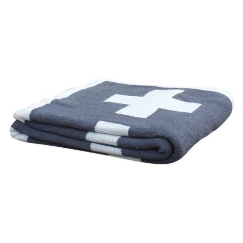 Swiss Cross Organic Cotton Throw For Sale