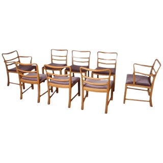 Set of Eight Dining Chairs by Edward Wormley for Dunbar For Sale