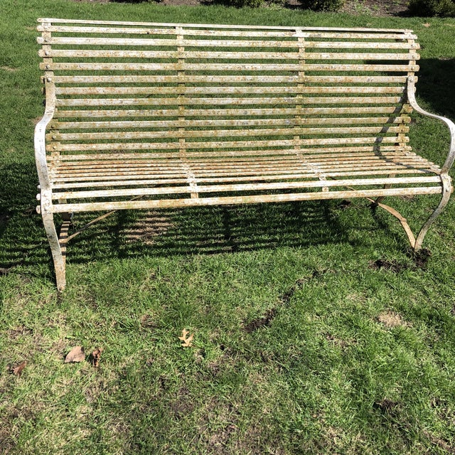 French 1920's White Garden Benches - a Pair For Sale In Chicago - Image 6 of 12