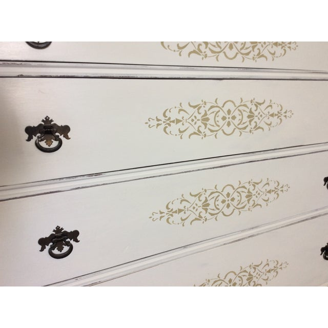 Vintage Hand Painted Mirrored Dresser - Image 5 of 7
