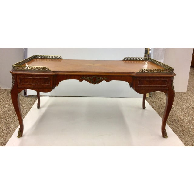 Antique Inlaid Glass Top French Coffee Table For Sale - Image 13 of 13