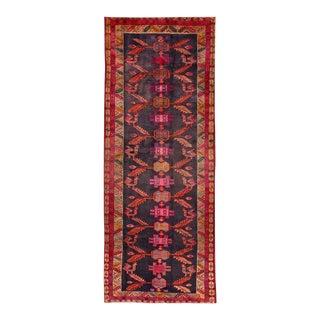 "Mid 20th Century Vintage Persian Heriz Rug, 4'6"" X 11'6"" For Sale"
