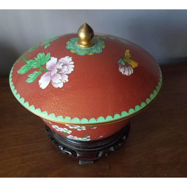 Chinese Cloisonne Bowl on Stand - Image 4 of 11