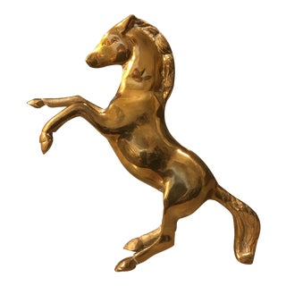 Brass Rearing Horse For Sale