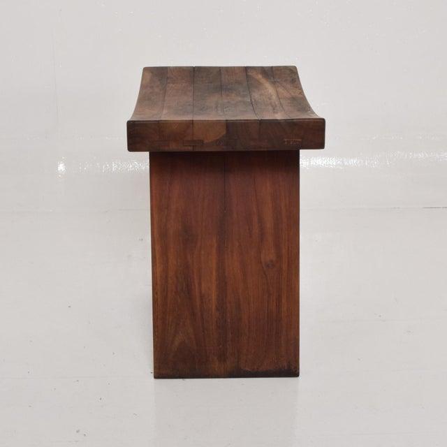 Mid-Century Modern Mid-Century Modern Custom Walnut Stool, After Nakashima For Sale - Image 3 of 8
